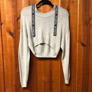 "🖤 H & M Cropped ""Influential"" Sweatshirt"
